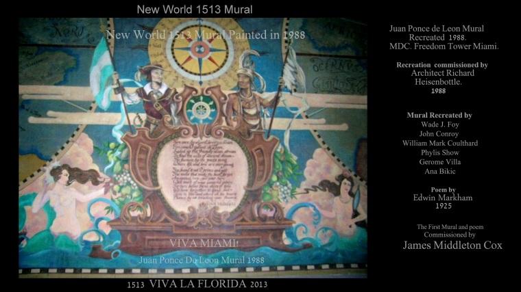 Juan Ponce De Leon 1513 Mural! Viva Florida<br />Edwin Markham Poem For Juan Ponce De Leon