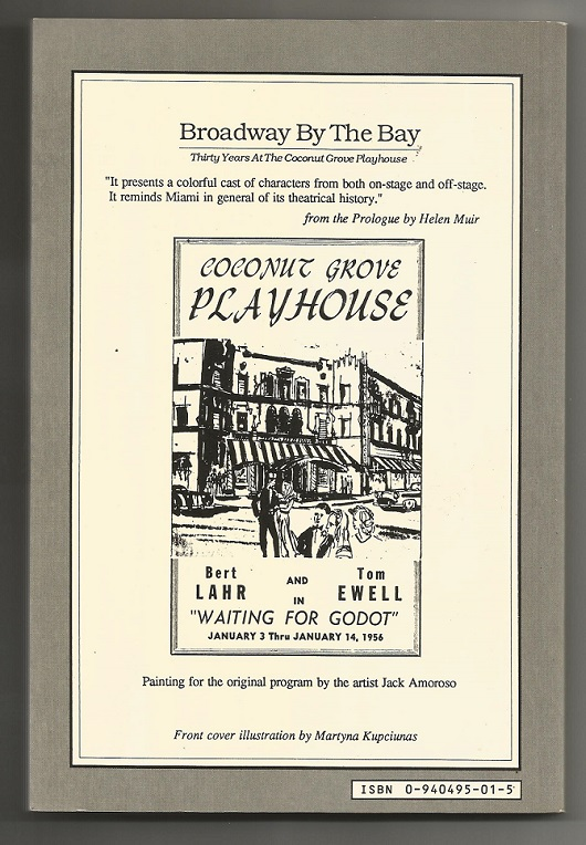 Showing the rear cover of the Coconut grove Playhouse's wonderful history .
