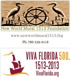 New World Mural 1513 logo with Viva Florida 500 Logo