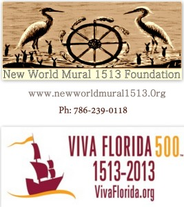 New World Mural 1513 logo with Viva Florida 500 Logo